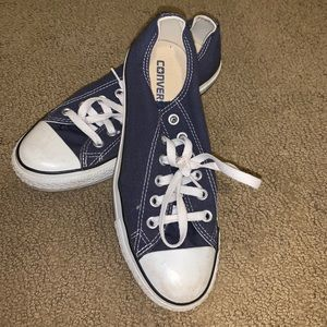 Navy blue Converse, size 8